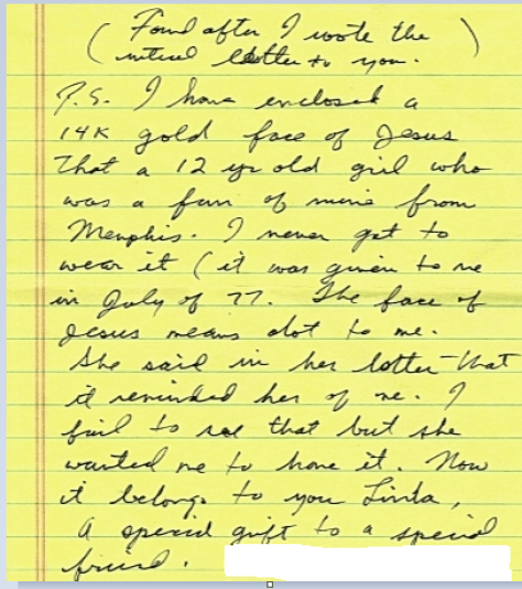 Jesse's letter which accompanied his photo with Ben page 4