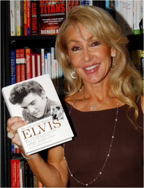 Linda Thompson with Jerry Schilling's book