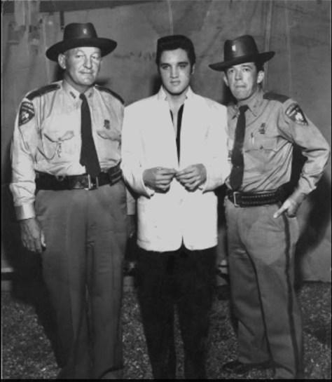 Elvis with law enforcement friends