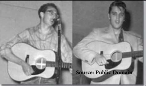 Elvis and Buddy Holly 1955 Lubbock, Texas