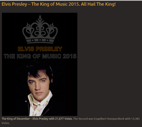 The king of musicThe King of Music Vote for the best