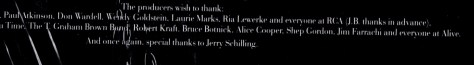 Heartbreal Hotel back of soundtrack album cover Jerry Schilling, JB and Alive