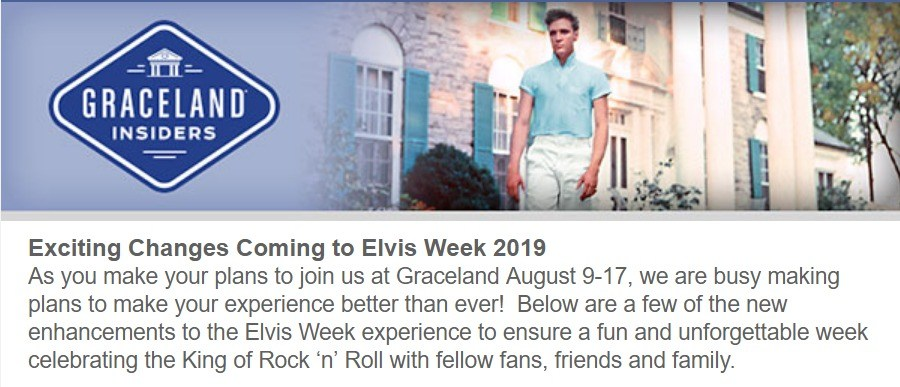 Exciting Changes Coming to Elvis Week 2019