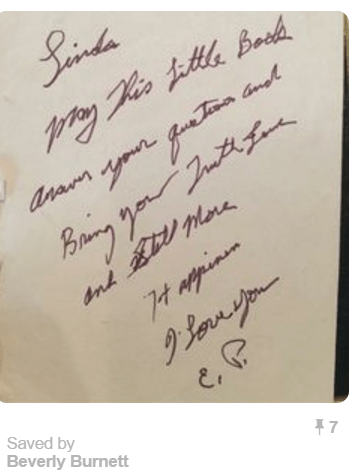 Elvis' note to Linda Thompson from Pinterest