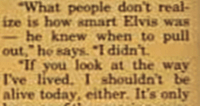 Jerry Lee Lewis quote about Elvis knowing when to leave clipped
