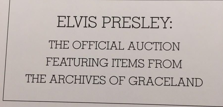 Elvis archives auction book declaration