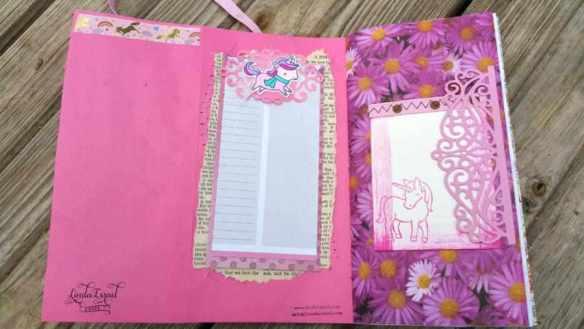 Pink Unicorn Travelers Notebook Insert Junk Journal