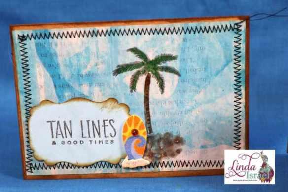 Scrappy Tropical Note Card Tutorial