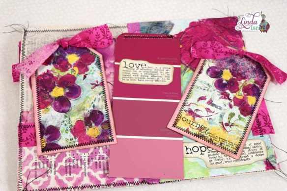 Violet Junk Journal Page Tutorial