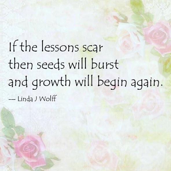 Scars. poem by Linda J Wolff