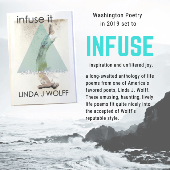 INFUSE IT is the new, long-awaited anthology of life poems from one of America's favored poets, Linda J. Wolff.