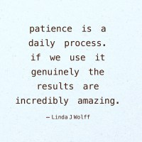 Quote: Patience