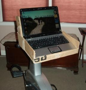 Build a laptop shelf for your exercise bike