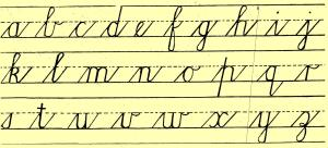 The Death of Cursive Writing