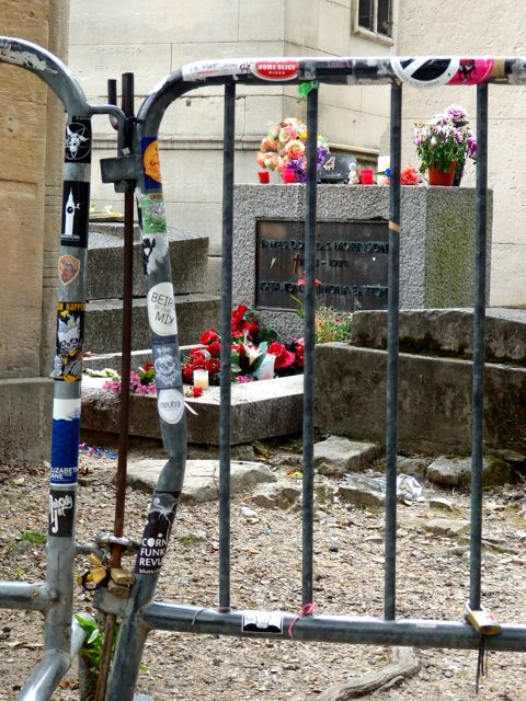 The gate around Morrison's grave
