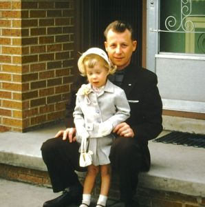 My father with me.