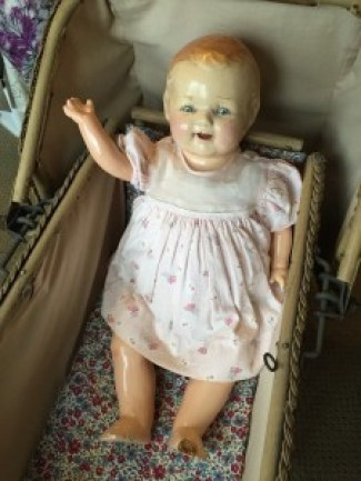 antique composite doll