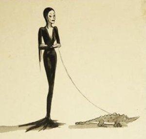 morticia addams, inspiration for Vampira