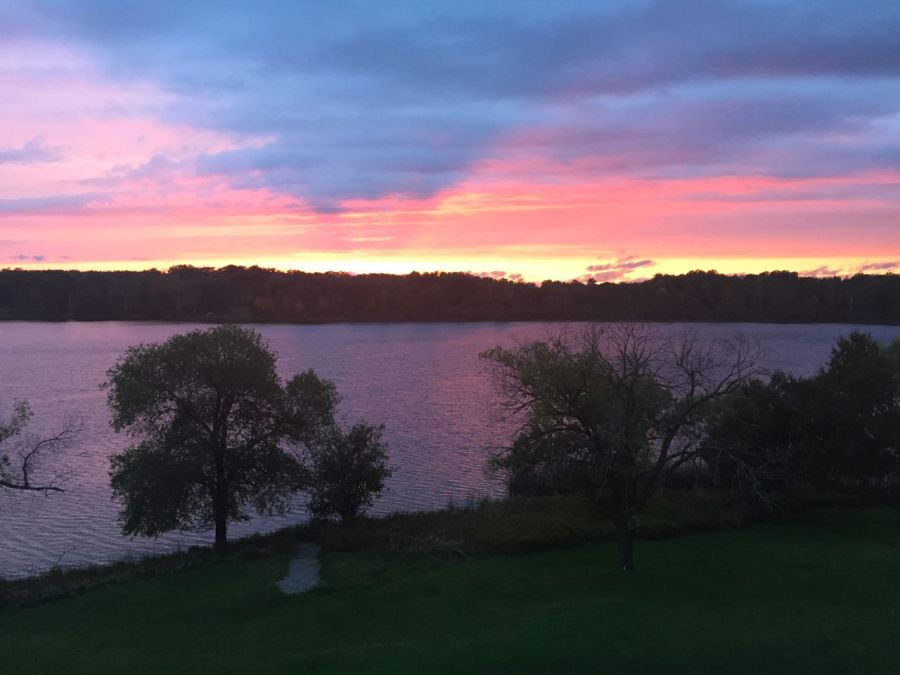 sunset at Lost Lake Writers Retreat