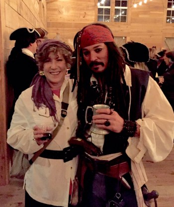 Linda and pirate friend