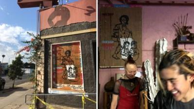 Guerilla mural