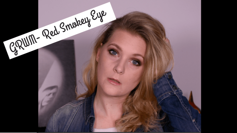 GRWM Red Smokey eyes