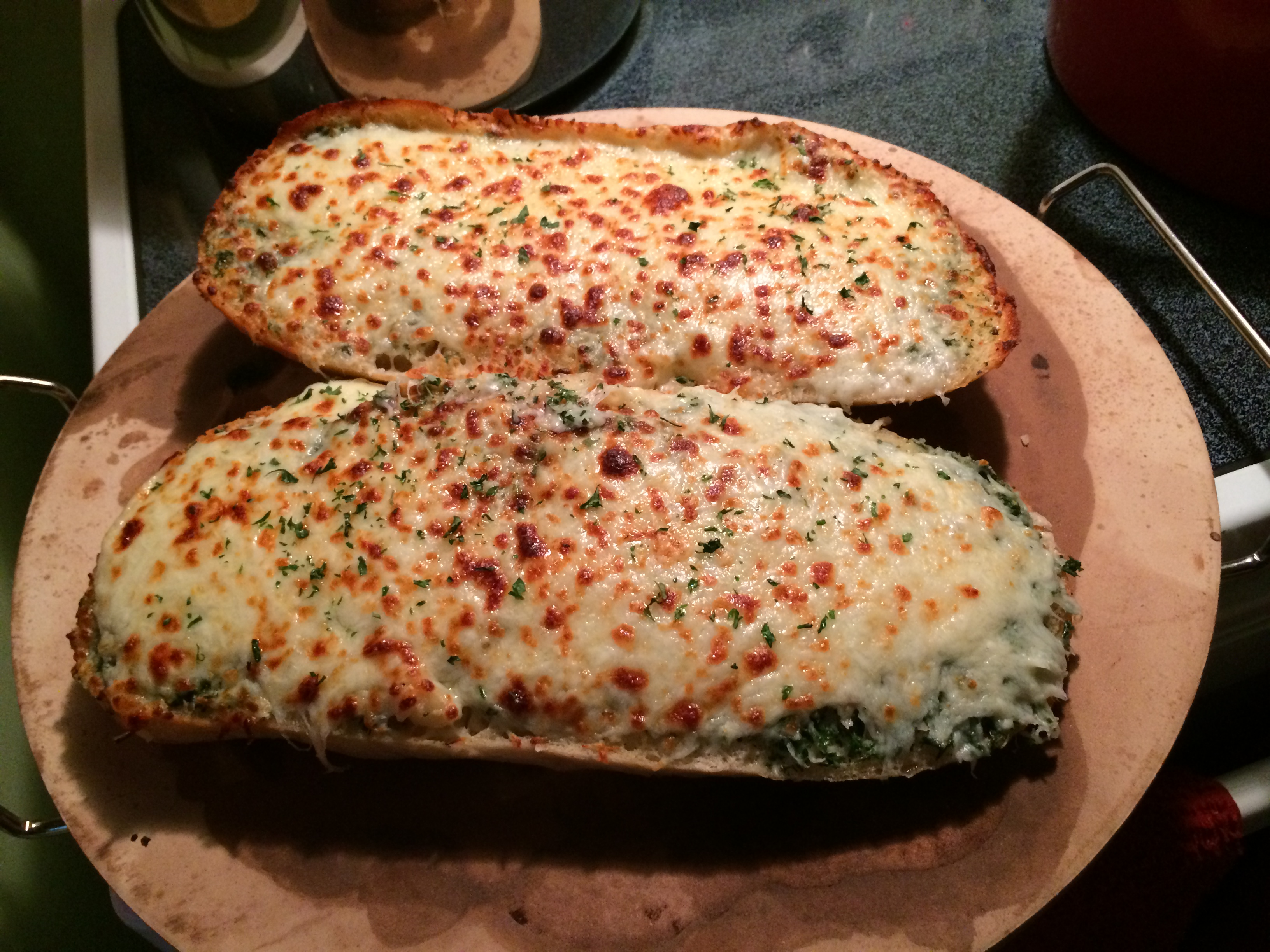 Cheesy Buttery Garlic Ciabatta Bread Let S Dish With