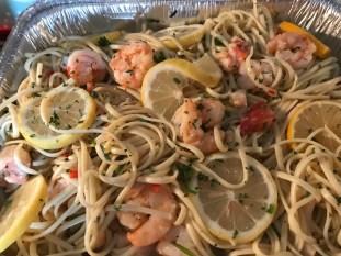 Lobster And Shrimp Scampi Over Linguine (3)