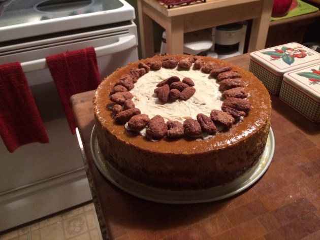 Pumpkin Cheesecake With White Chocolate And Candied Pecans (2)