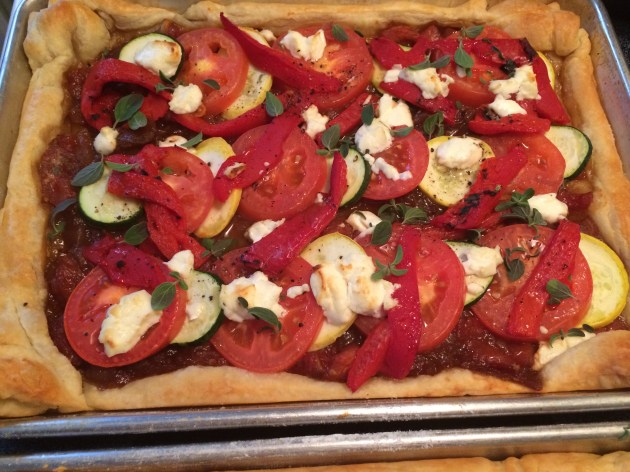 Tomato And Zucchini Tart With Goat Cheese (3)
