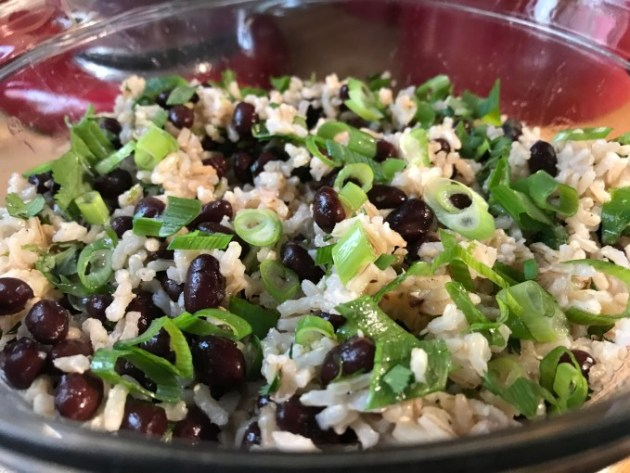 Cilanto-Lime Brown Rice With Black Beans