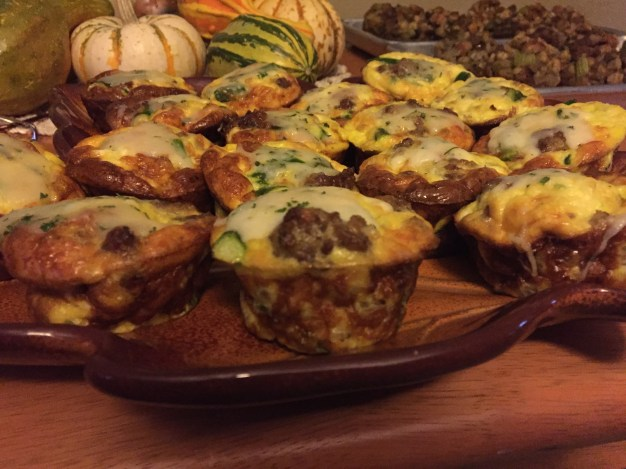 Mini Sausage, Asparagus, And Truffle Fontina Cheese Frittatas
