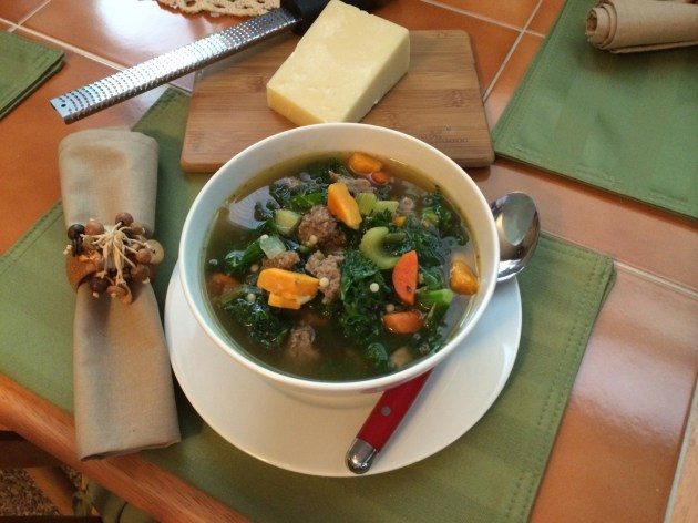 Turkey Sausage, Sweet Potato, And Kale Soup (2)
