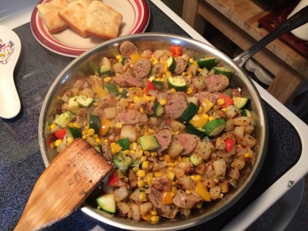 Italian Sausage And Zucchini Hash