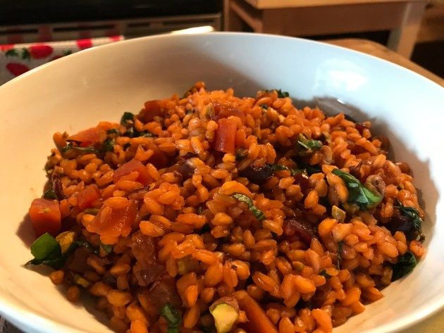 Farro With Cranberries, Pineapple, And Pistachios (4)