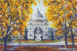 The Royal Exhibition Building in Watercolour