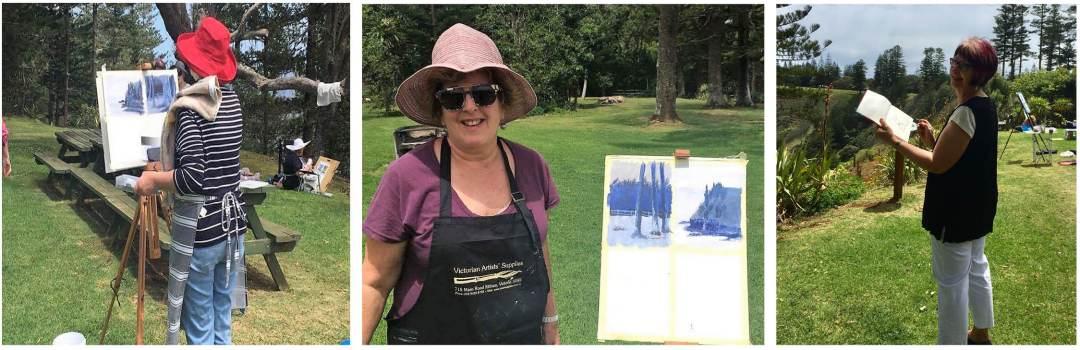 Painting Norfolk Island en plein air