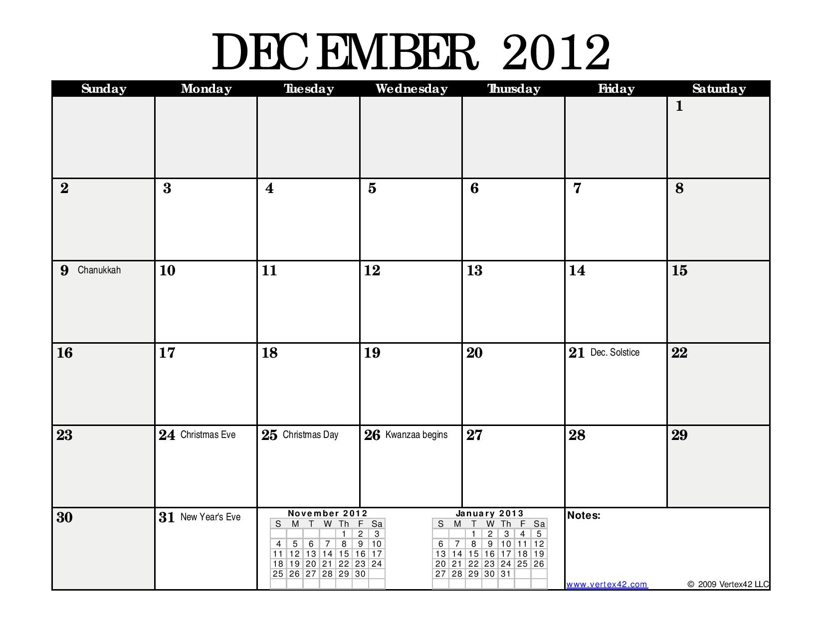 Monthly Calendar Black Landscape Page 012 A Writer