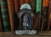 Linda Lenart McNulty-Encaustic Shrine St. with Fire I (800x580)
