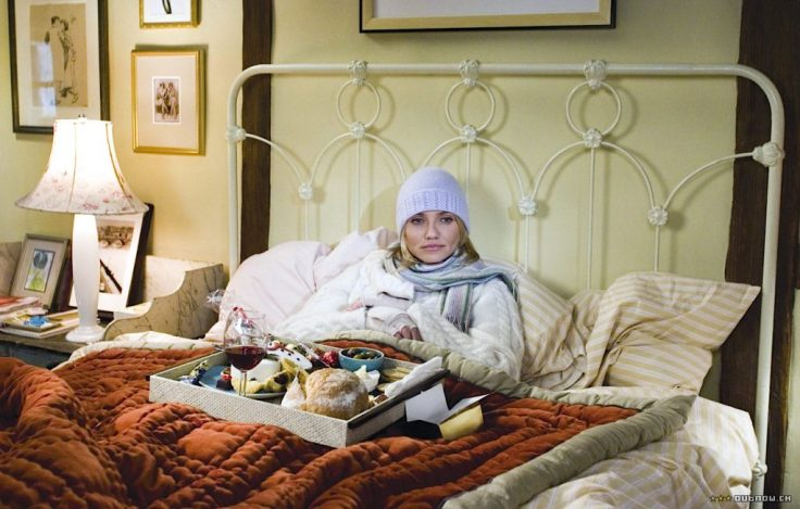The Holiday bedroom brass bed Cameron Diaz