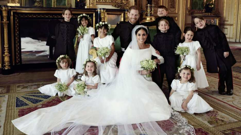 Harry Meghan Royal Wedding photo Princess Diana green sofa