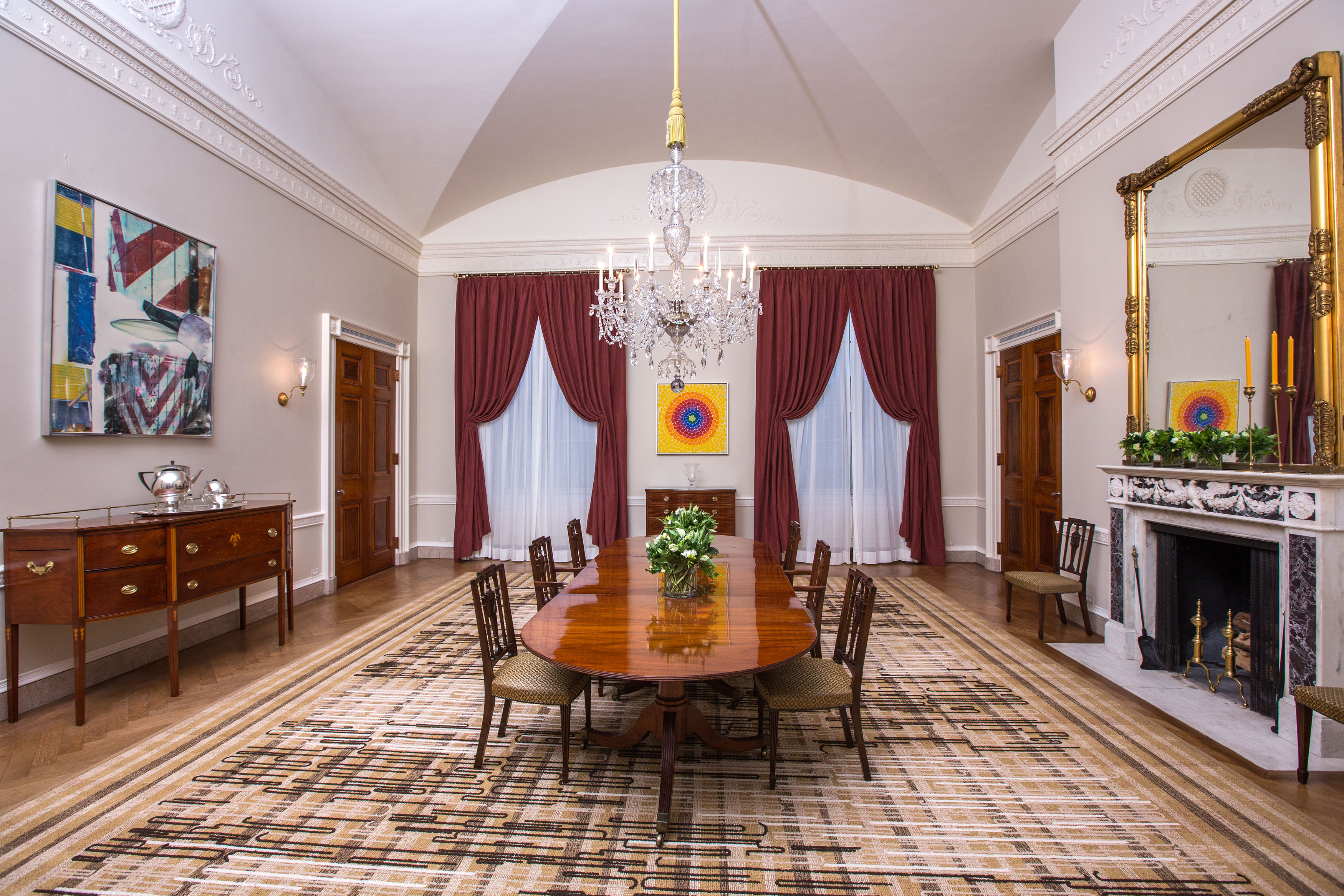 White House family dining room Obama update