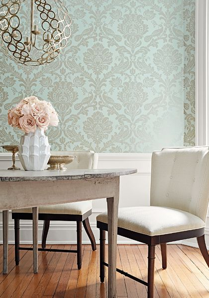 Thibaut Designs New Damask Wallpaper Collection Linda Merrill