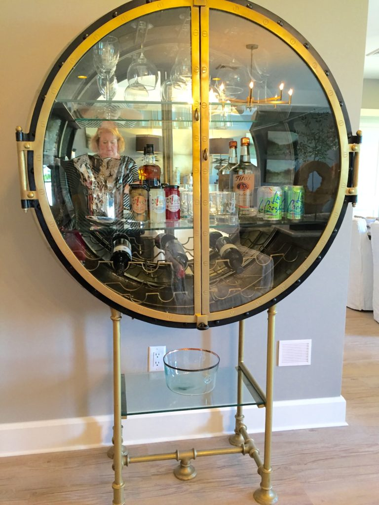 2016 Boston Magazine Design Home at The Pinehills Plymouth MA bar cabinet