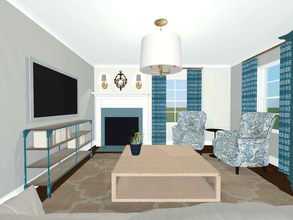 Virtual design living room decor lowes paint color app for Interactive living room design