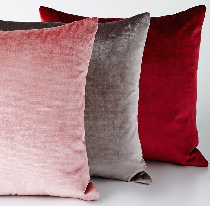 Cherry blossom velvet pillows