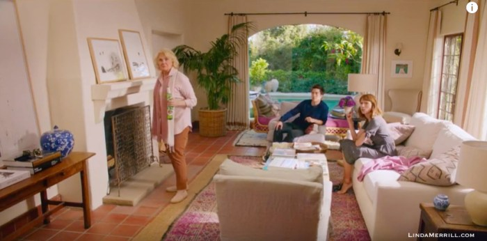 Home Again movie living room Candice Bergen