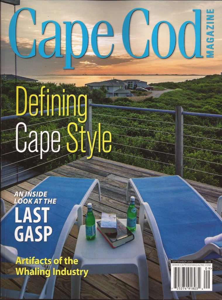 Cape Cod Magazine Truro Cover looking at sunset