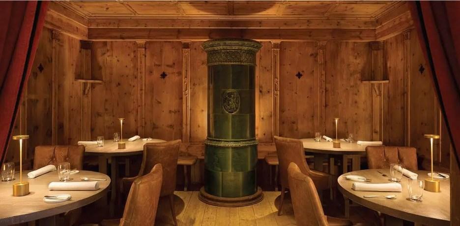 Cristallo Resort hotel dining room