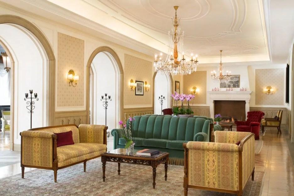 Cristallo Resort hotel living room